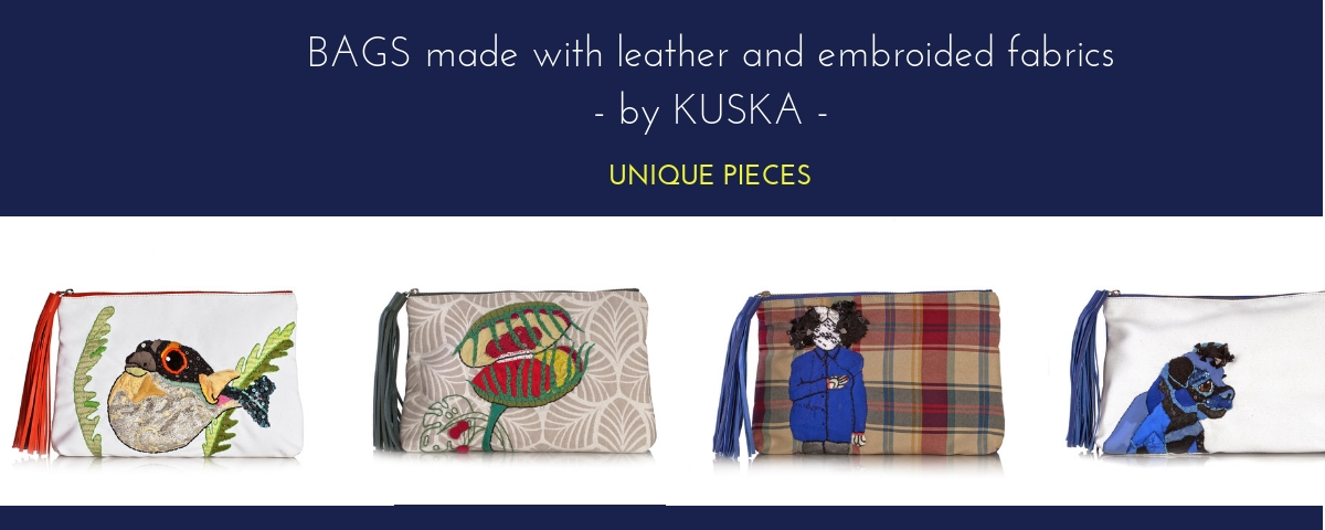 COLLECTION EMBROIDED BAGS BY KUSKA